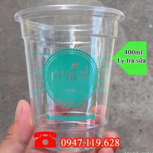 Ly trà sữa Pet 400ml