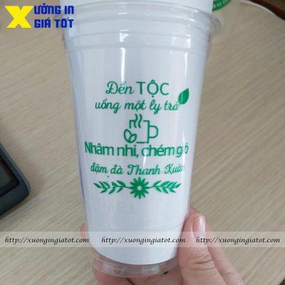 Ly trà sữa Pet 500ml