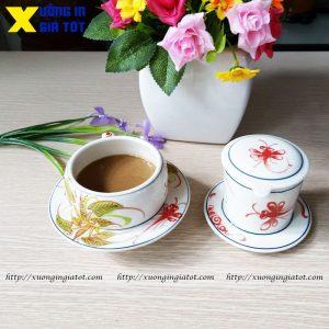 Tách cà phê họa tiết khoai chuồn