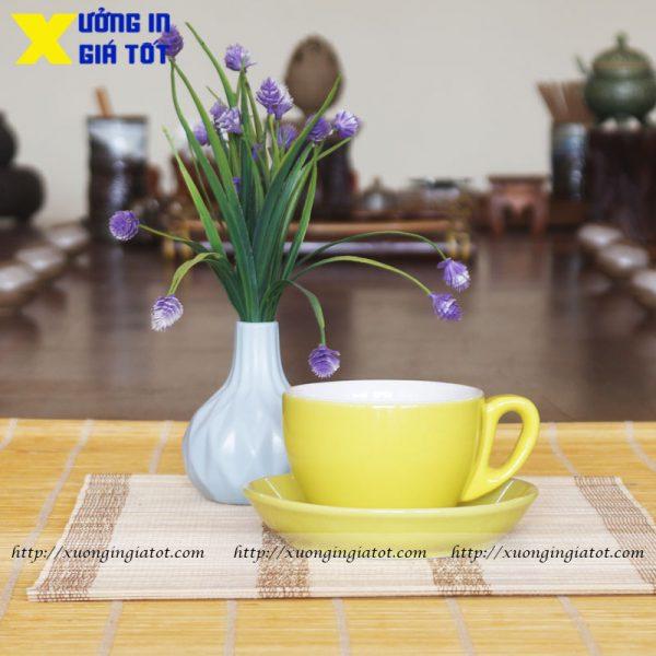 Tách cà phê Cappuccino vàng